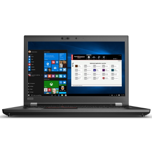 "Рабочая станция Lenovo P72 17.3"" UHD [20MB000MRT] Core i7-8850H/ 16GB/ 512GB SSD/ 1TB/ NV Quadro P3200 6GB/ noODD/ WiFi/ BT/ FPR/ SCR/ Win10Pro/ Business Black изображение 1"