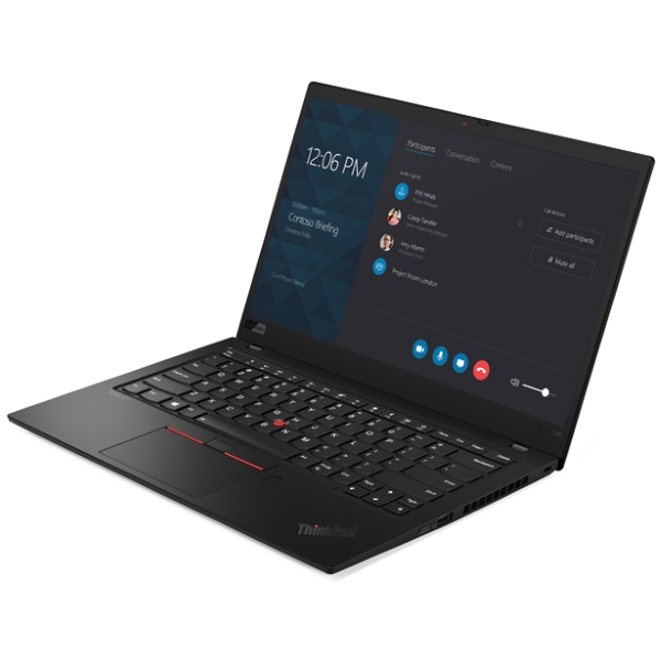 "Ноутбук Lenovo ThinkPad X1 Carbon Gen7 14"" UHD [20QD003JRT] Core i7-8565U/ 16GB/ 512GB SSD/ noODD/ WiFi/ BT/ FPR/ 4G/ Win10Pro/ black изображение 2"