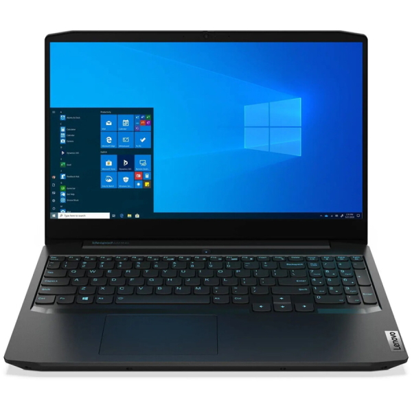 "Ноутбук Lenovo IdeaPad Gaming 3 15IMH05 15.6"" FHD [81Y400TGRK] Core i5-10300H, 8GB, 256GB SSD + 1TB, noODD, GeForce GTX 1650 4GB, WiFi, BT, DOS, черный изображение 1"
