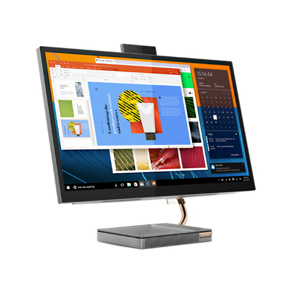 "Моноблок Lenovo IdeaCentre AIO 5 27IMB05 27"" QHD [F0FA002PRK] Core i7 10700T/ 16GB/ 1TB/ 512GB SSD/ no ODD/ GeForce GTX 1650 4GB/ BT/ WiFi/ Win 10/ Mineral Grey изображение 4"