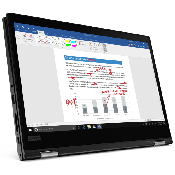 "]Ноутбук Lenovo ThinkPad L13 Yoga G2 13.3"" FHD Touch [20VK0013RT] Core i7-1165G7, 16GB, 512GB SSD, WiFi, BT, FPR, SCR, Win10Pro, черный изображение 2"