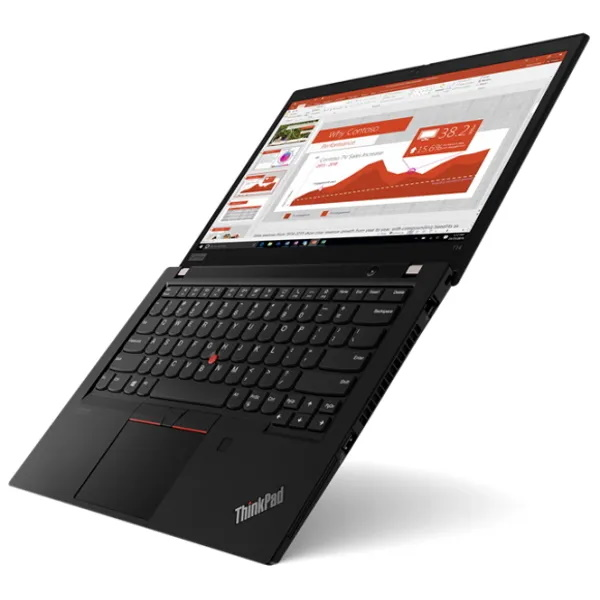 "Ноутбук Lenovo ThinkPad T14 G2 14"" FHD [20W0000HRT] Core i7-1165G7, 16GB, 512GB SSD, GeForce MX450 2GB, WiFi, BT, FPR, SCR, Win10Pro, черный изображение 2"