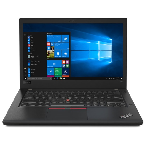 "Ноутбук Lenovo ThinkPad T480 14"" FHD [20L50057RT] Core i7-8550U/ 16GB/ 1TB SSD/ noODD/ WiFi/ BT/ FPR/ Win10Pro/ Business Black изображение 2"