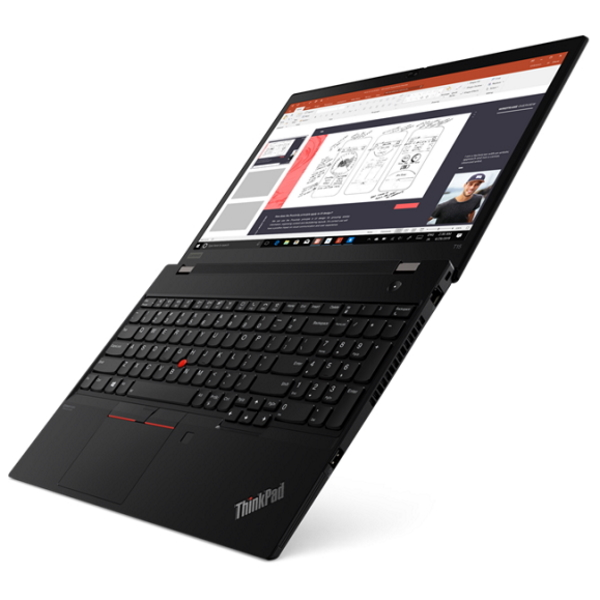 "Ноутбук Lenovo ThinkPad T15 Gen1 15.6"" FHD [20S6003PRT] Core i7-10510U, 16GB, 1TB, noODD, GeForce MX330 2GB, WiFi, BT, 4G, FPR, SCR, Win10Pro, черный изображение 3"