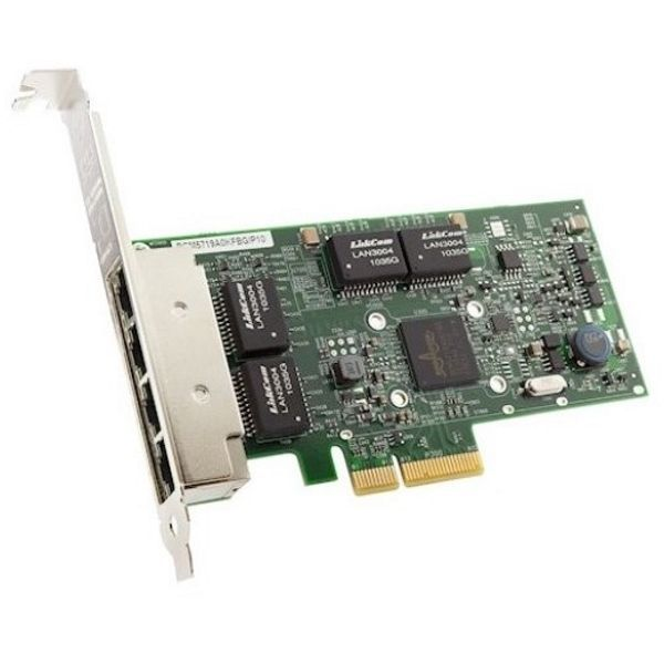 Адаптер Lenovo ThinkSystem Broadcom 5719 [7ZT7A00484] 1GbE 4-Port RJ45 PCIe Ethernet изображение 1