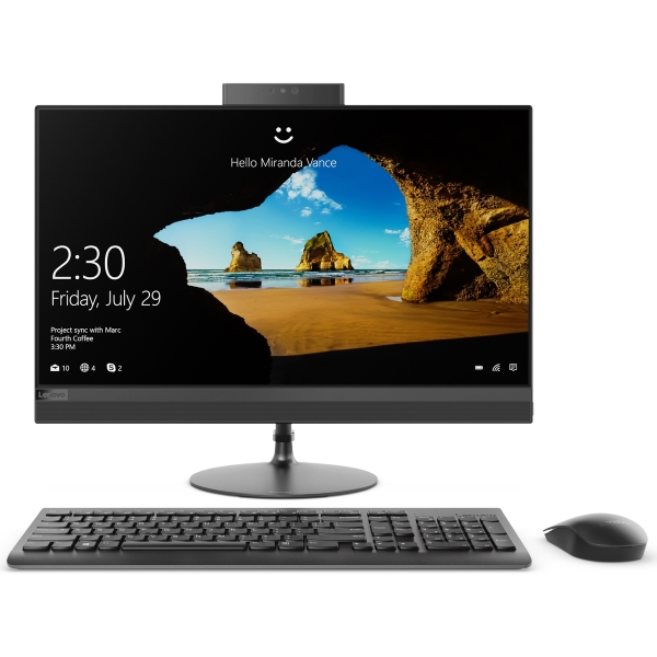 "Моноблок Lenovo IdeaCentre AIO 520-24ICB 23.8"" FHD [F0DJ00EBRK] Core i5-8400T/ 8GB/ 512GB SSD/ DVD-RW/ WiFi/ BT/ Win10/ black изображение 1"