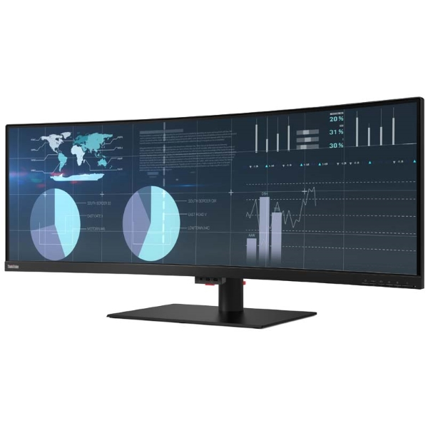 "Монитор Lenovo ThinkVision 43.4"" [61D5RAT1EU] 3840 x 1200 (6ms. 178-178, tilt, swivel, lift) изображение 3"