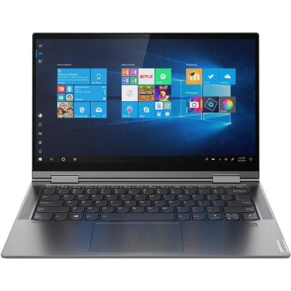 "Ноутбук-трансформер Lenovo Yoga C740-14IML 14"" FHD Touch [81TC00DLRU] Core i7-10510U, 16GB, 1TB SSD, WiFi, BT, FPR, Win10, серый изображение 1"